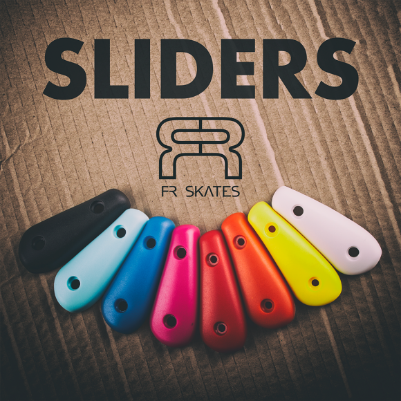 Kolorowe slidery, klamry oraz sznurówki do rolek FR oraz Seba