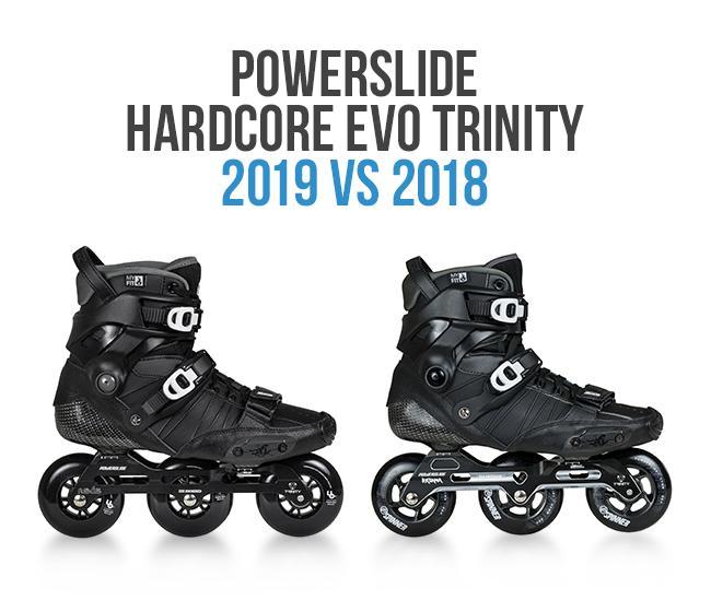 Czym się różnią rolki Powerslide Hardcore EVO 2018 od 2019