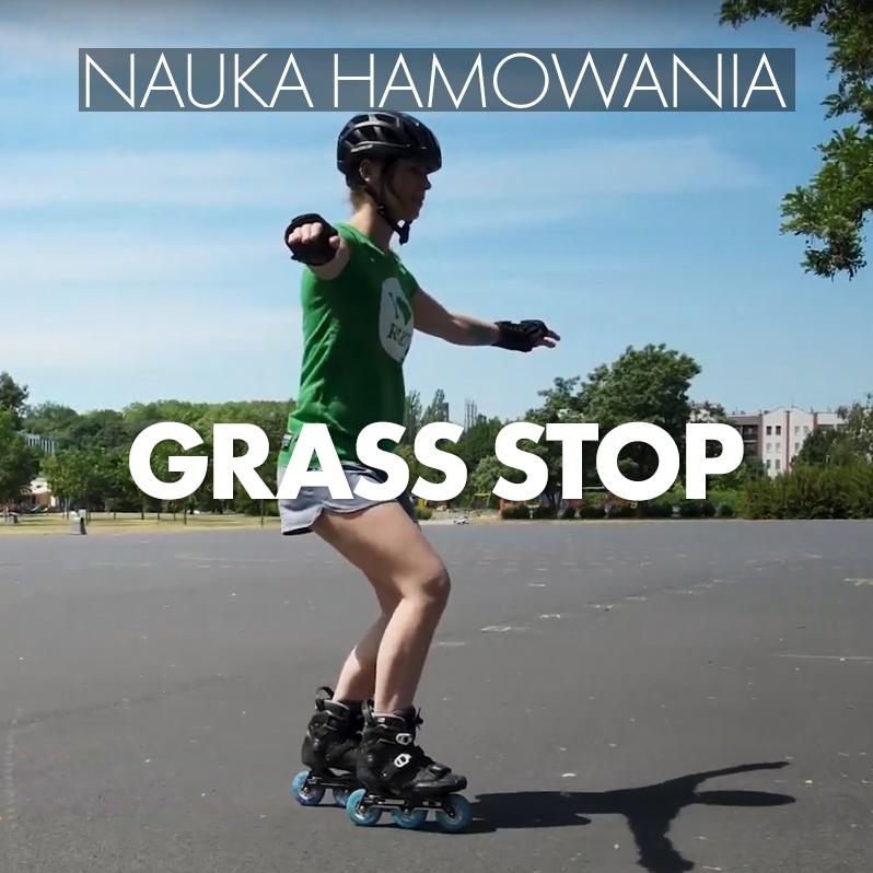 Nauka jazdy na rolkach - jak zahamować - Grass Stop