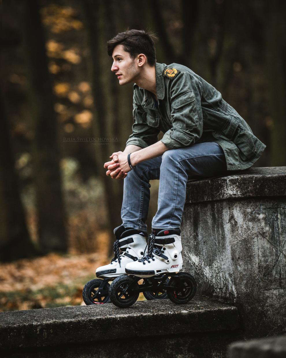 Video - Tomasz Ardziński na rolkach Powerslide - Next z szyną Off-Road Edge