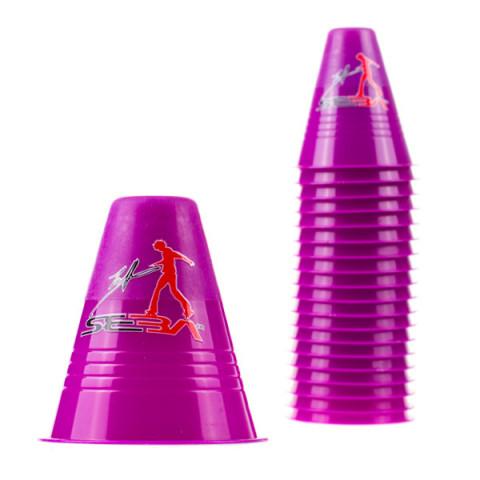 Seba - Slalom Cones Dual Density - Fioletowe (20 szt.)