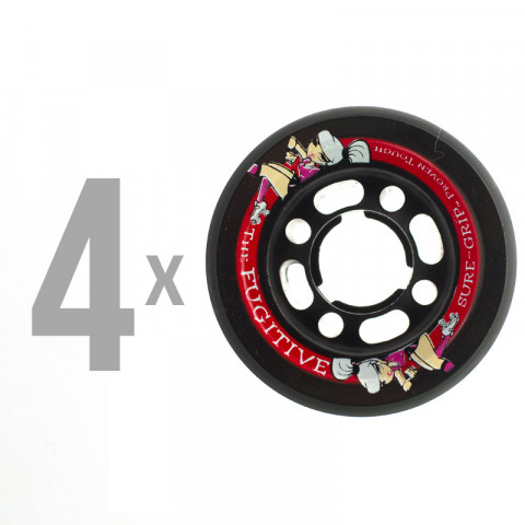 Sure Grip - Fugitive Wheels 62mm/92a (4 szt.) - Czarne