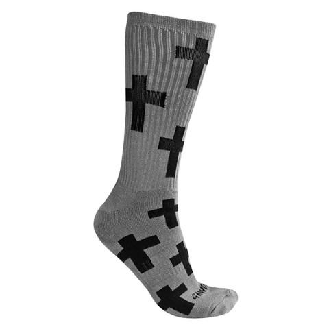 Gawds - Cross Socks Medium - Szare
