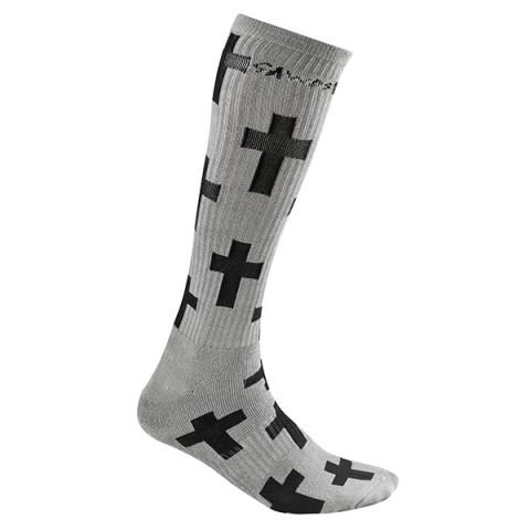 Gawds - Cross Socks Long - Szare
