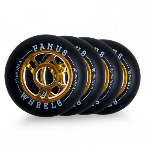 Kółka - Famus - Alu Fugitive Wheel 90mm/84A - Zdjęcie 1