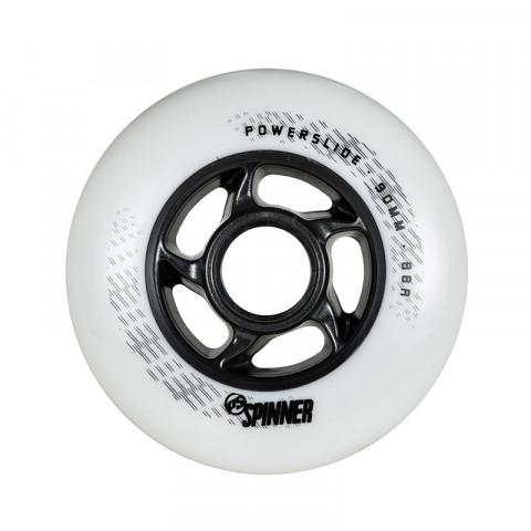 Kółka - Powerslide - Spinner 90mm/88a Bullet Profile - Białe (1 szt.) - Zdjęcie 1
